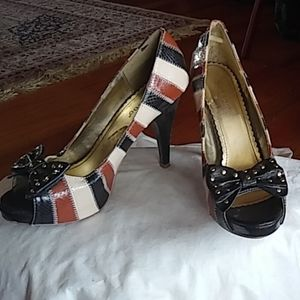 Fun Bamboo peep toe platform shoes 8